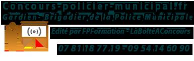 Concours Gardien Brigadier de la Police Municipale